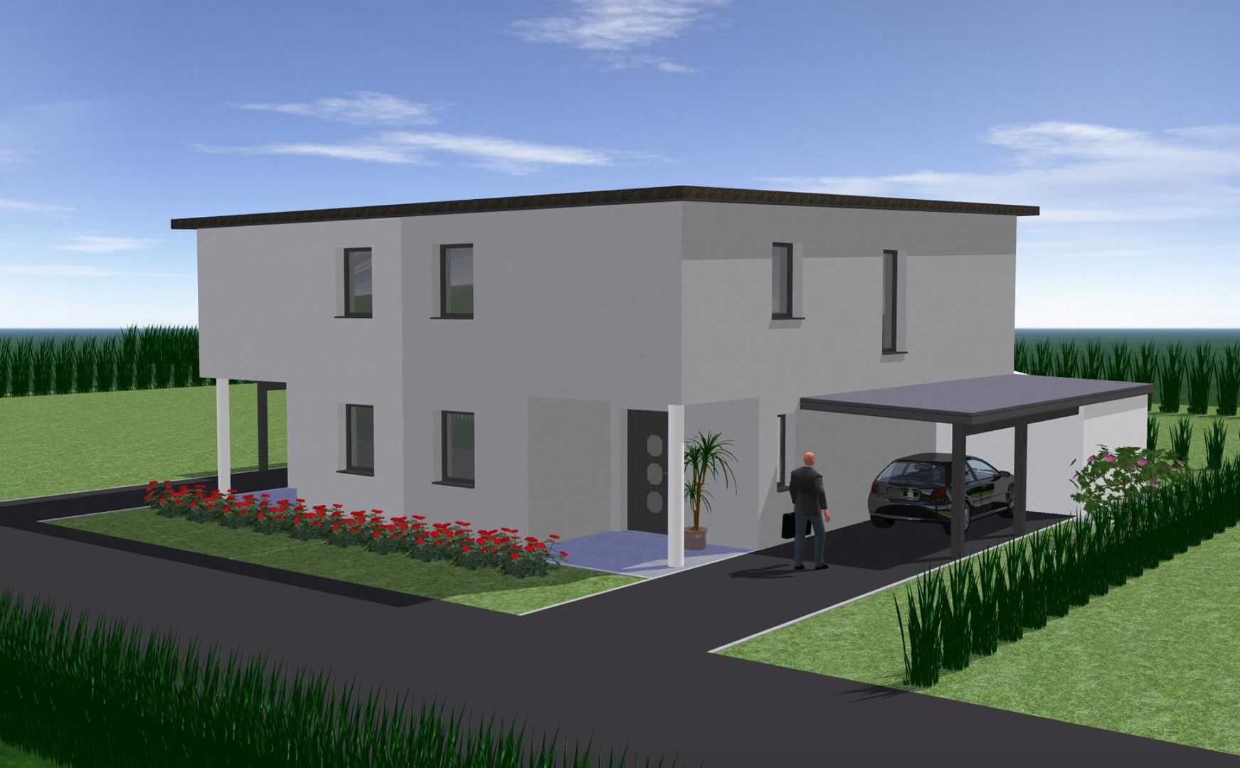 Projekt: Doppelhäuser in Feldkirchen