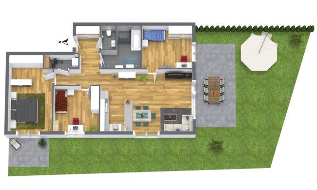 4-Zimmer Gartenwohnung Süd-West