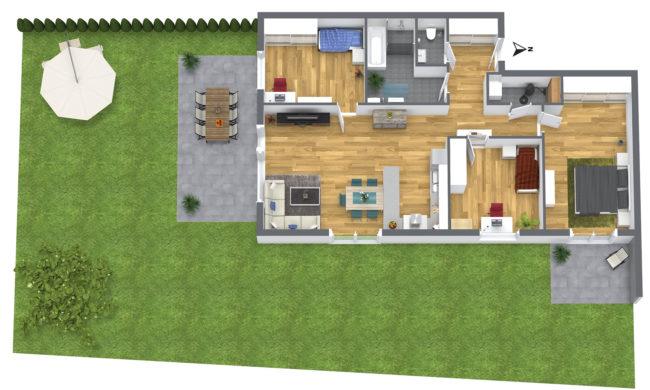 4-Zimmer Gartenwohnung Süd-Ost