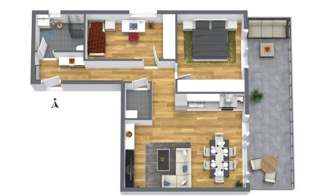 3-Zimmer Wohnung 1OG Nord-Ost